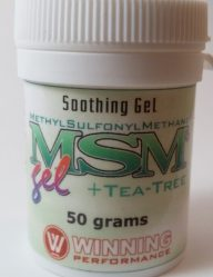 MSM gel, relief for inflammation and swelling